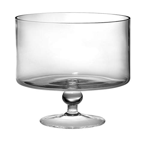 European Beautiful Hand Made Glass Large Trifle Bowl