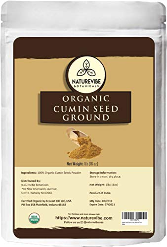 Organic Cumin Seed Powder by Naturevibe botanicals