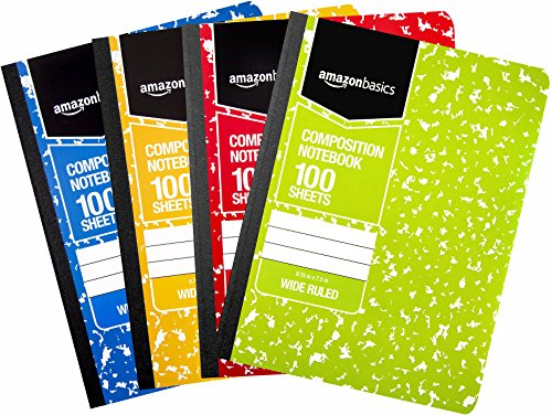 Amazon Basics Wide Ruled Composition Notebook