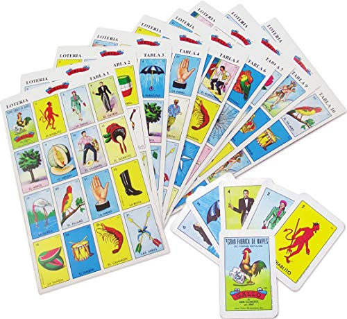 Original Loteria Bingo Game Set