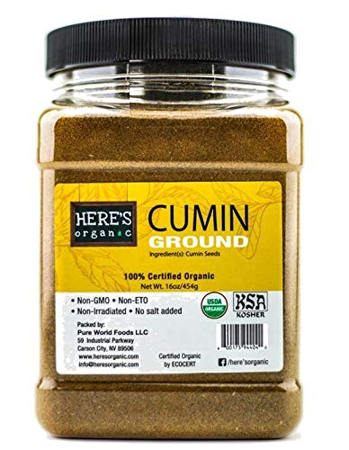 USDA Certified Organic 100% Pure Cumin Seeds Powder
